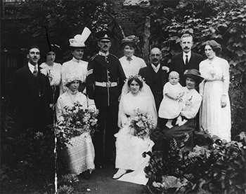 Lottie's wedding, 1914